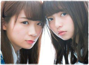 この齋藤飛鳥さんと比べている方は同じく乃木坂46の秋元真夏さんですが、全然顔のサイズが違いますね!