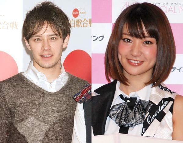 大島優子とウエンツ瑛士の写真