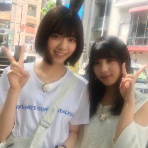 与田祐希と西野七瀬の2ショット写真
