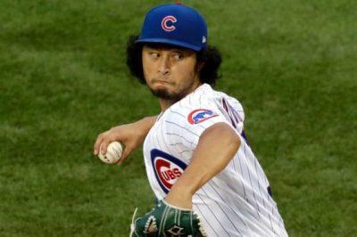 ダルビッシュ有が野球をしている時の画像