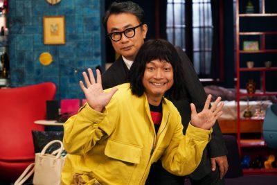 香取慎吾と三谷幸喜の写真