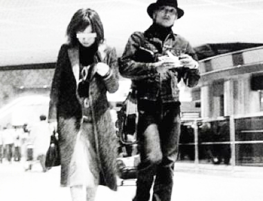 香取慎吾と女性の写真