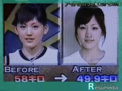 綾瀬はるかのダイエット前とダイエット後の比較画像