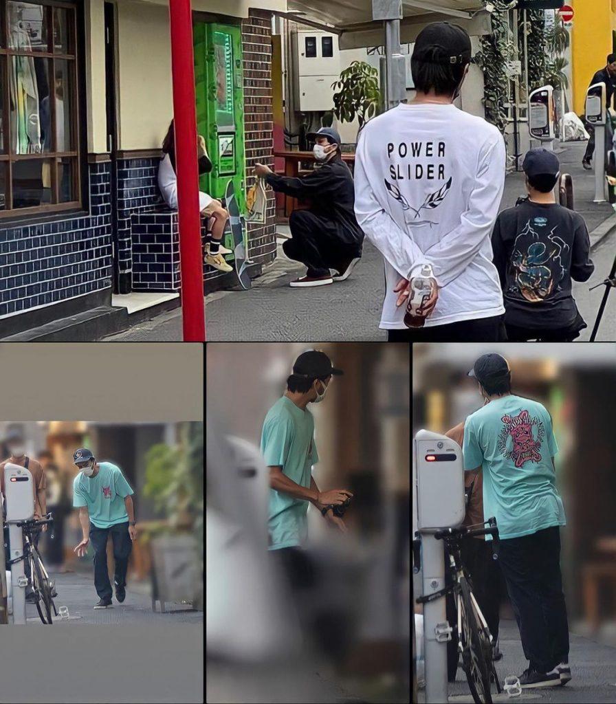 長瀬智也が映画監督をしている写真